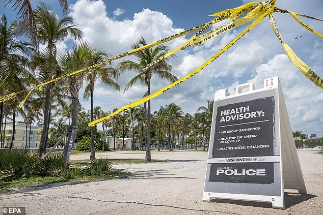 There were no homicides in Miami during a six-week period for the first time since 1960 and for a seven-week period since 1957. Beaches in South Beach are also closed