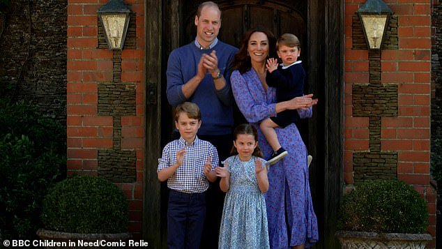 On April 23, Prince William, Kate Middleton, Prince George, six, Princes Charlotte, four and Prince Louis, two, clapped for the NHS as part of the BBC Children In Need and Comic Relief