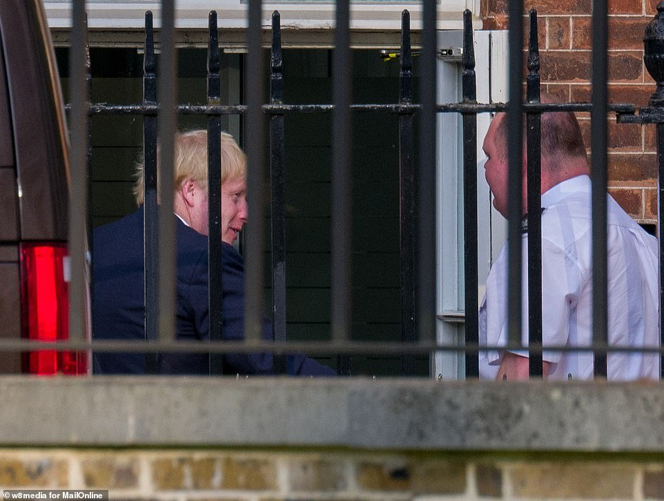 Boris Johnson has arrived back in Number 10 ahead of his return to work tomorrow following his battle with coronavirus, MailOnline can reveal