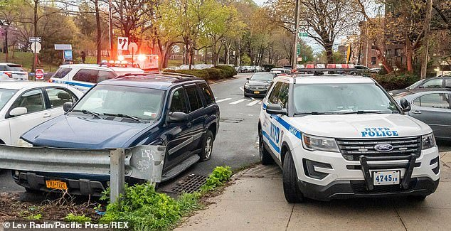 NYPD officers arrive on the scene after Mondello