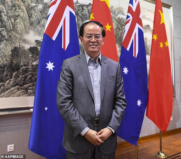 Chinese Ambassador Cheng Jingye (pictured) labelled a push for an independent inquiry into the origins of COVID-19 by Prime Minister Scott Morrison as