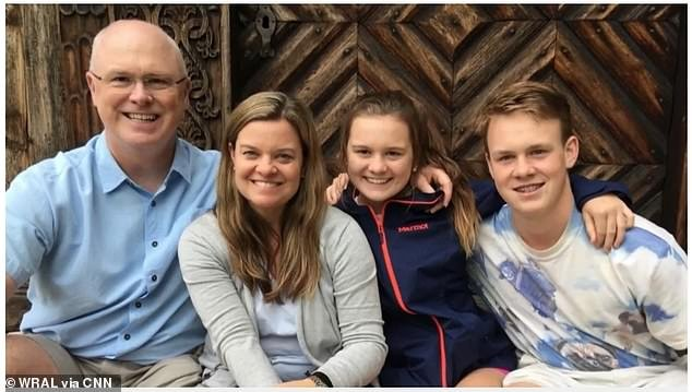 Samuel and Helen McLean and their son Ben both tested positive for the virus. Their daughter Sydney tested negative, as did the family
