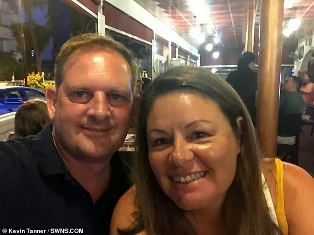 Locality administrator Laura Tanner, 51, passed away at home in Basildon, Essex, as she waited for paramedics to arrive with husband Kevin (pictured together)