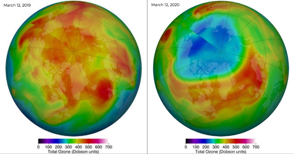 The largest Arctic ozone hole ever recorded is now closed - CBS News