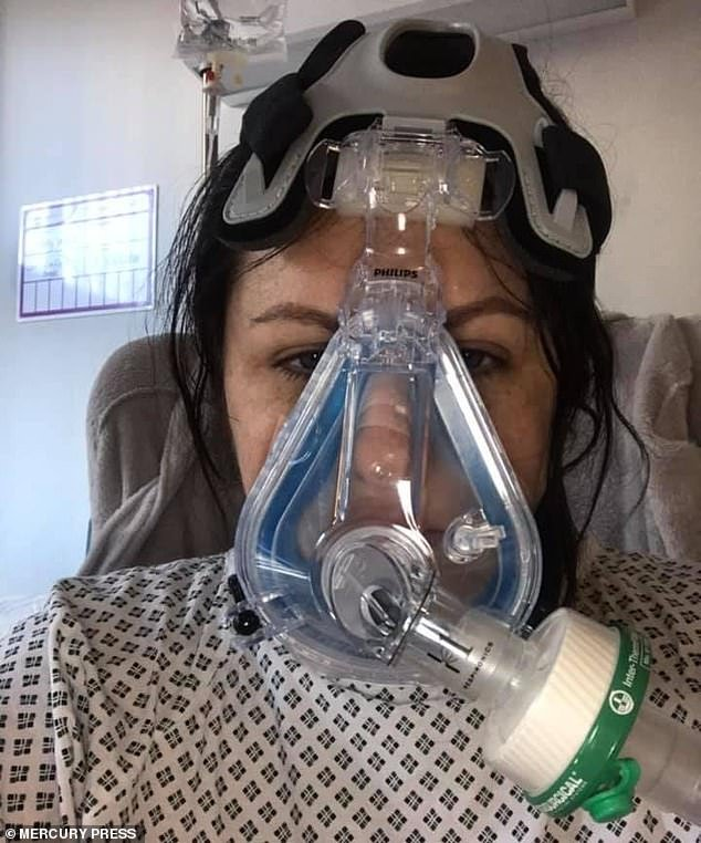 Nurse of 12 years Kelly Ward, 35, started coughing during a hospital shift and now remains seriously ill at Bradford Royal Infirmary in West Yorkshire