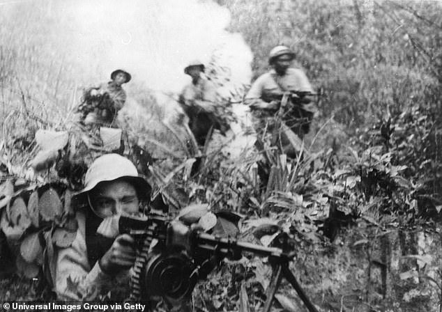 Soldiers firing on enemy troops in south Vietnam in 1968 during the Tet Offensive. The most deadly day for U.S. came during the offensive with 246 killed, yet in comparison, in the past month, U.S. daily deaths have reached over 2,000 on ten separate occasions