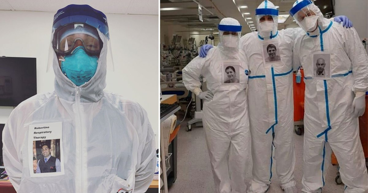 3 28.png?resize=1200,630 - Doctors Are Pasting Their Pictures On PPE Suits So Their Patients Can Know Who Is Treating Them