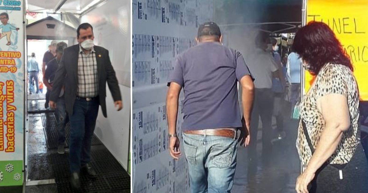 4 9.jpg?resize=1200,630 - A Market In Mexico Set Up A Sanitation Tunnel To Disinfect Shoppers