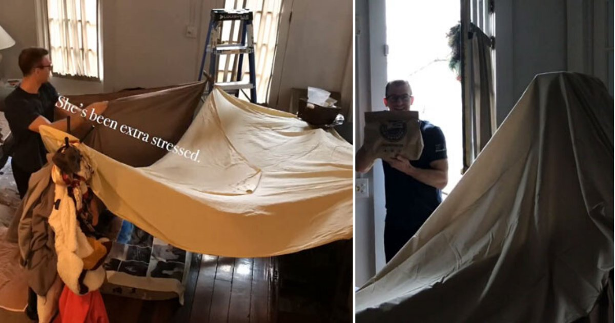 6 8.png?resize=412,232 - Husband Built A Fort For His Doctor Wife To Relax After Long Hours Of Duty Amid The Pandemic