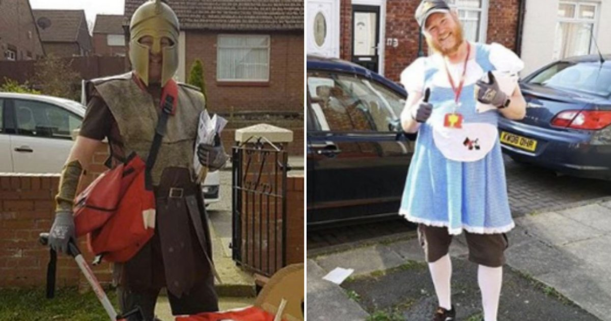 7 1.png?resize=412,275 - Postman Came Dressed Up In Different Characters To Lift The Spirits Up During The Lockdown