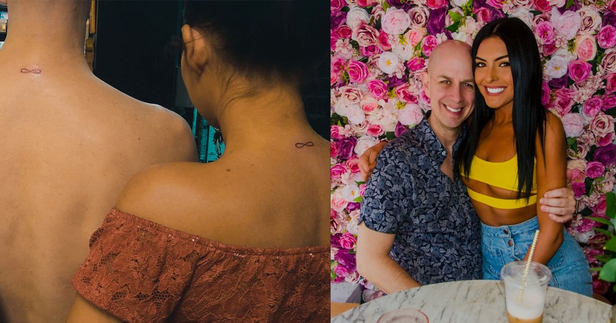 couple 23 year age gap got engaged after dating for just one month and inked themselves with matching infinity tattoos.jpg?resize=1200,630 - A Couple With 23-Year Age Gap Got Engaged After Dating For Just One Month And Got Matching Infinity Tattoos