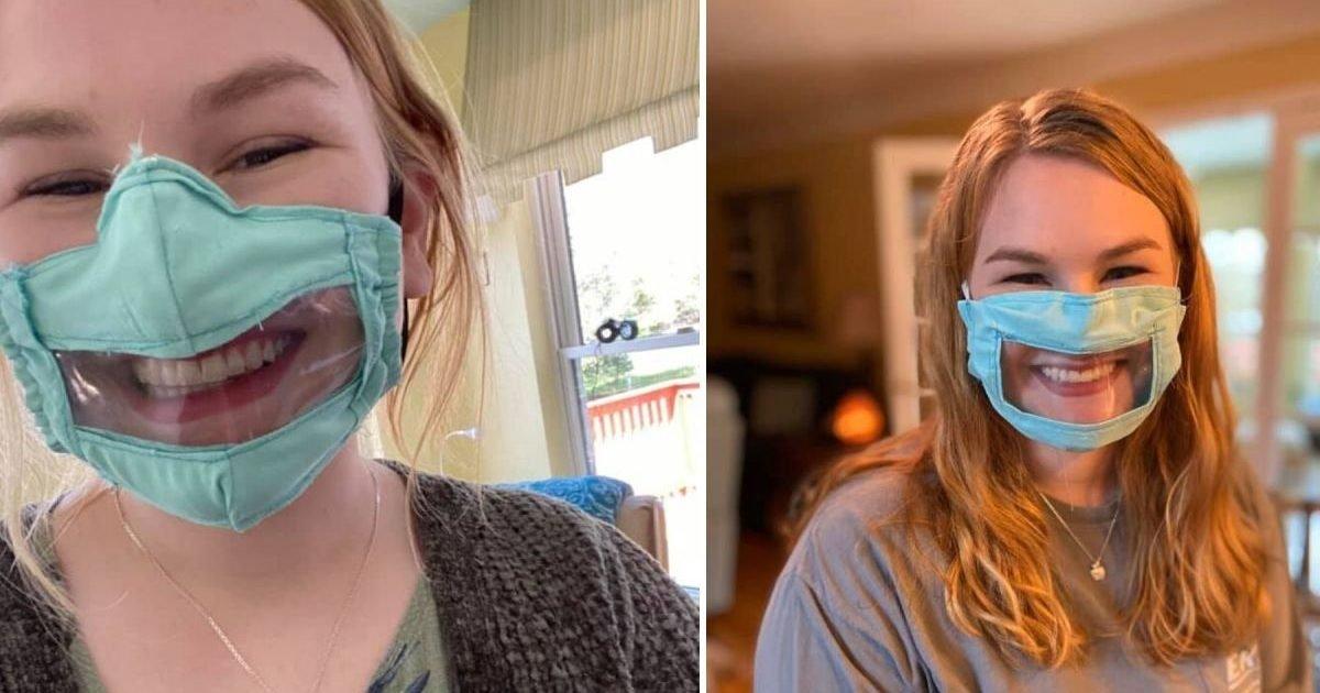 download 3 e1586023007885.jpeg?resize=412,232 - Solidarité : Une étudiante américaine fabrique des masques pour les personnes sourdes et malentendantes