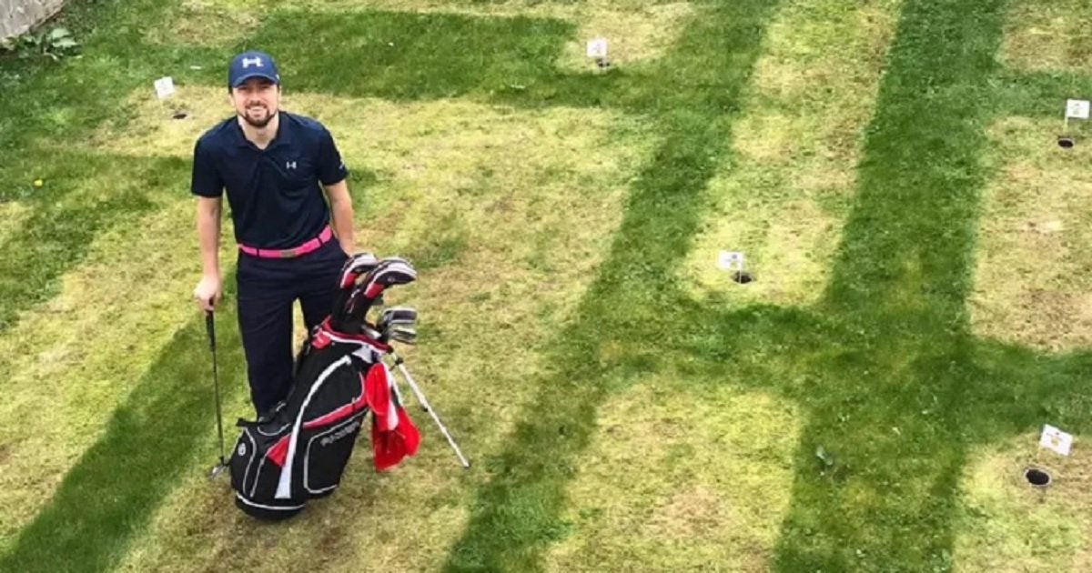 """g3 1.jpg?resize=1200,630 - Avid Golfer Decided To Create A """"Mini Masters"""" Course In His Own Backyard"""