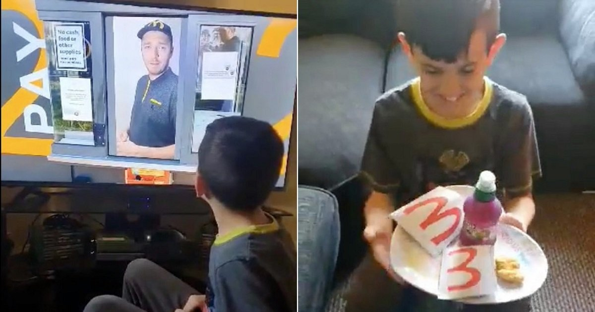 m4.jpg?resize=1200,630 - Unable To Go Out, Clever Mom Re-Created McDonald's Drive-Thru Experience For Her Kids