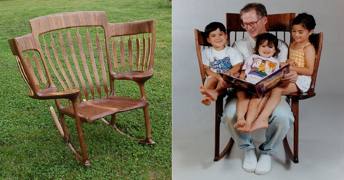 r3 4.jpg?resize=412,232 - Awesome Dad With 3 Kids Built A Triple Rocking Chair To Read To Them At The Same Time
