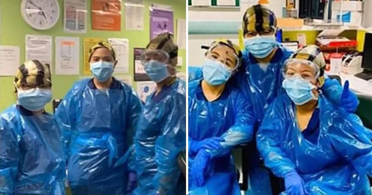 sdfsdfsdf.jpg?resize=1200,630 - Three Nurses Who Had To Wear Bin Bags Due To PPE Shortage Test Positive For Coronavirus
