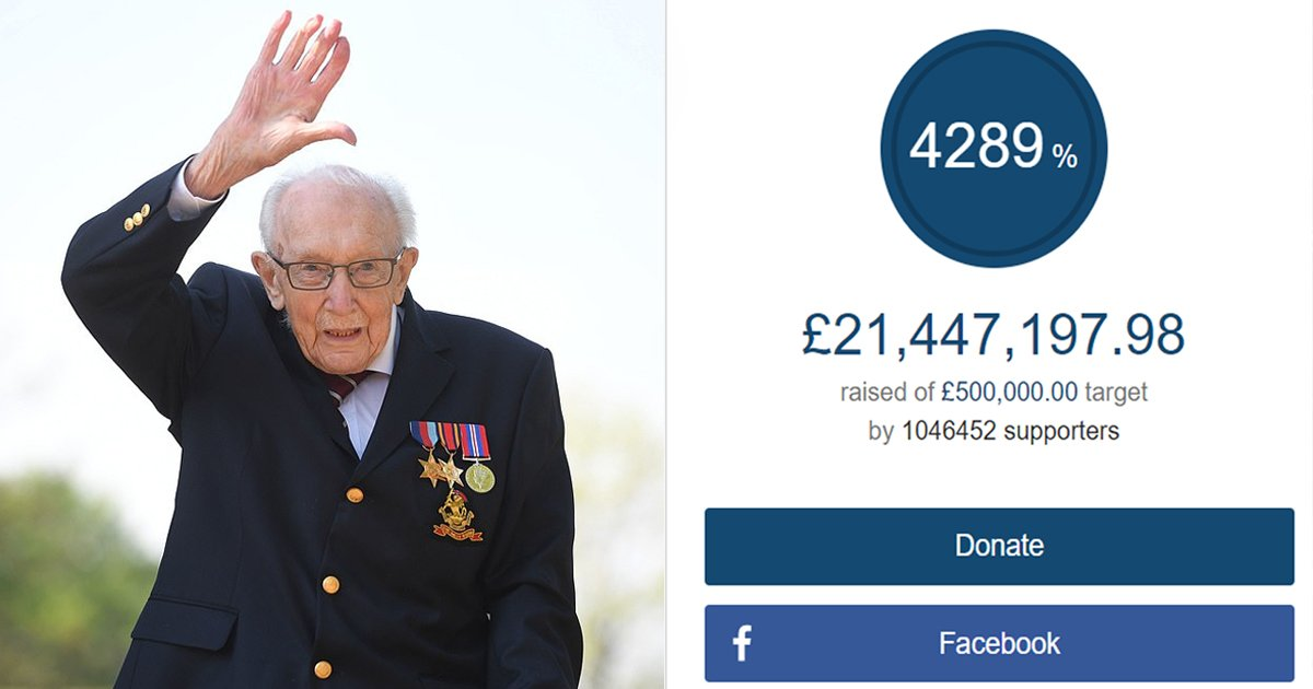 sgsssssg.jpg?resize=1200,630 - Captain Tom Of The WWII Raised £21 Million For The NHS Amid Coronavirus