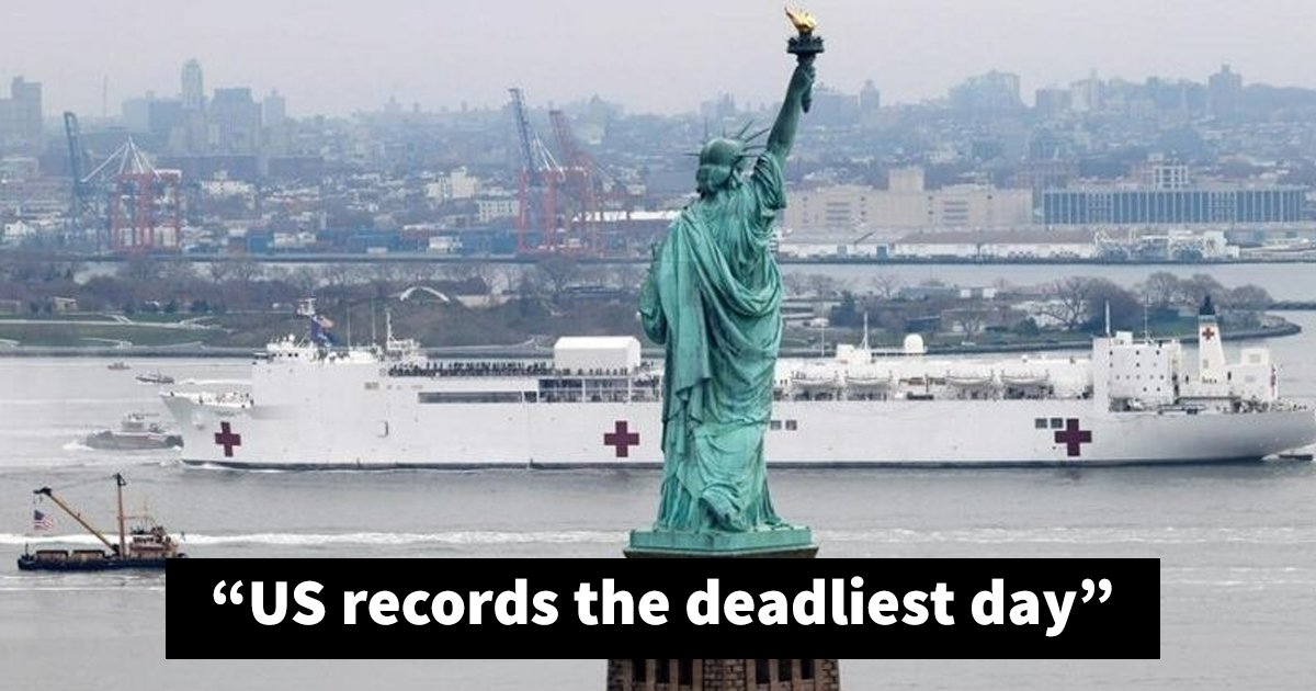 sssddd.jpg?resize=1200,630 - Coronavirus: US Records Highest Death Toll Beating Italy With 2,000 Deaths In One Day