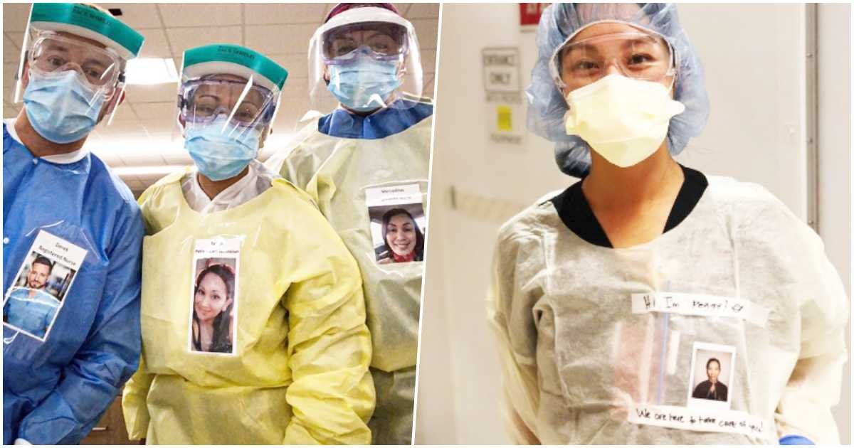thumbnail 1.jpg?resize=1200,630 - Healthcare Workers Wear Pictures Of Themselves Smiling So COVID-19 Patients Can See Beyond Their Masks