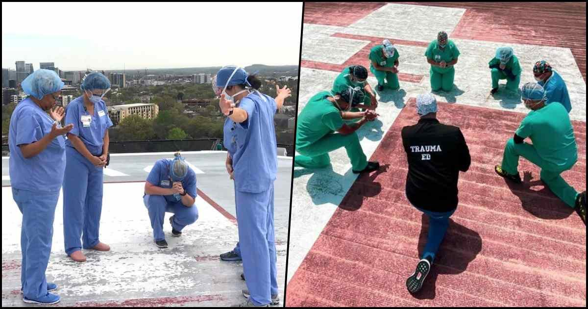 thumbnails 2.jpg?resize=1200,630 - Nurses Gather On Rooftops To Pray As They Risk Their Lives To Save Others In The Fight Against Coronavirus