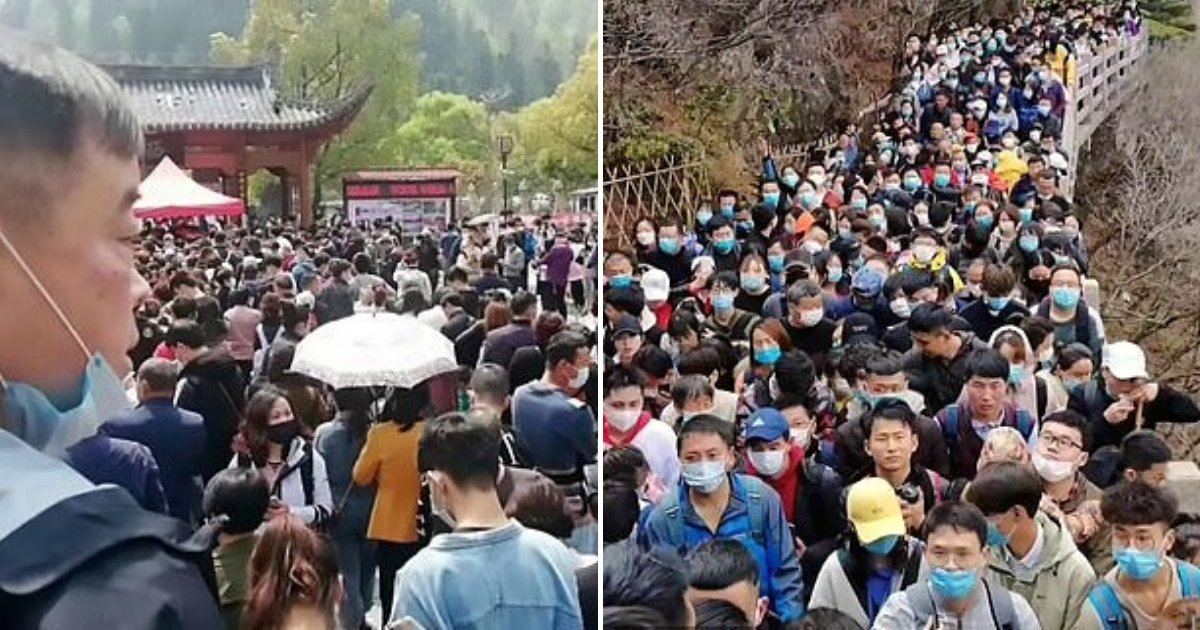 tourists5.png?resize=1200,630 - Tens Of Thousands Of Chinese Tourists Stuck At Attractions After It Reopened Amid COVID-19 Pandemic