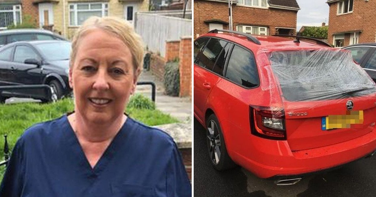 untitled 106.jpg?resize=412,232 - 59-year-old Nurse Is Unable To Visit The Elderly And Vulnerable Patients After Thugs Damaged Her Car