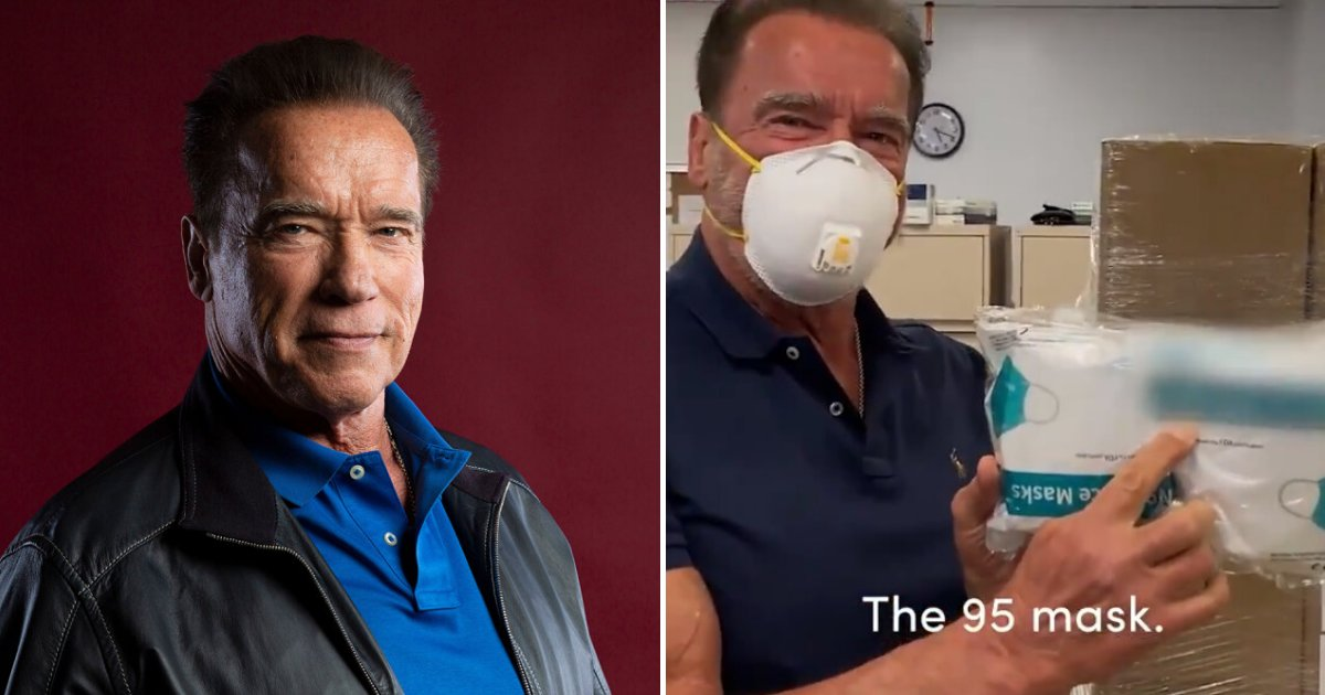 untitled design 1 4.png?resize=1200,630 - Arnold Schwarzenegger Donated $1 Million In Face Masks To COVID-19 Frontliners