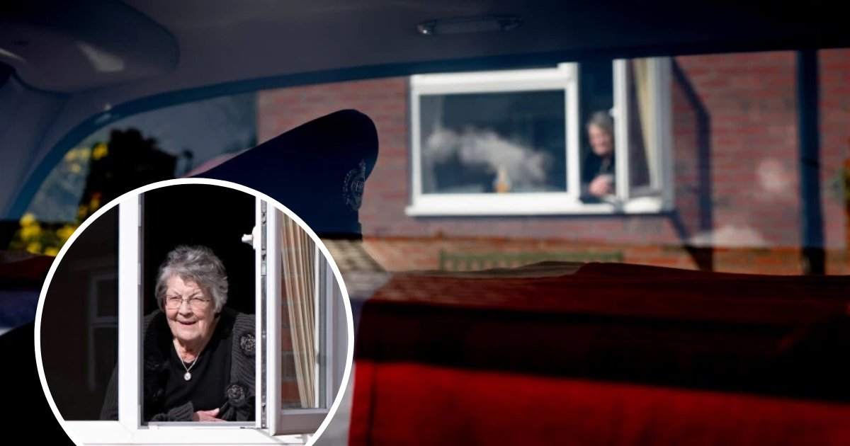 untitled design 3 1.png?resize=1200,630 - Widow Forced To Watch Her Husband's Hearse Pass By Her Home From Her Window Amid Coronavirus Lockdown