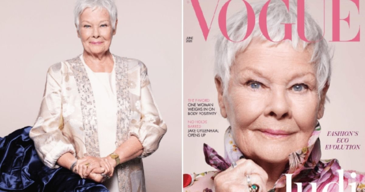 1 43.jpg?resize=1200,630 - Award Winning Actress Judi Dench Becomes British Vogue's Oldest Cover Star at 85