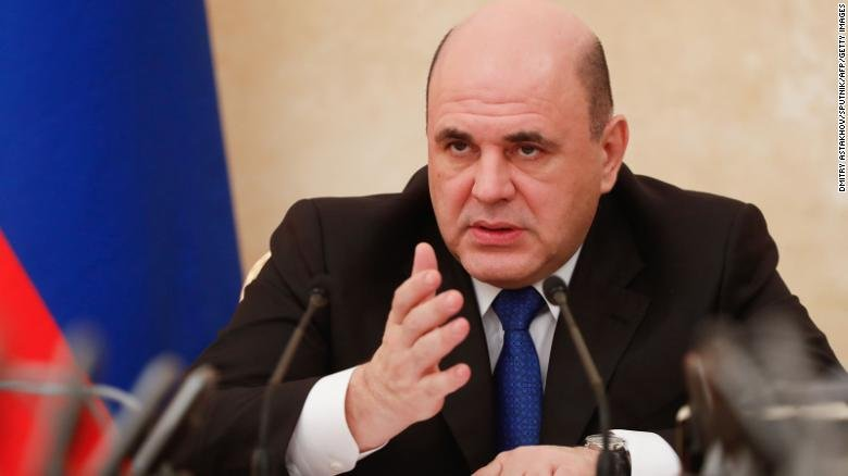 Russian Prime Minister Mikhail Mishustin chairs a meeting on the coronavirus last month.