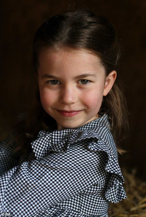 The young Princess Charlotte poses for a photograph taken by her mother this week