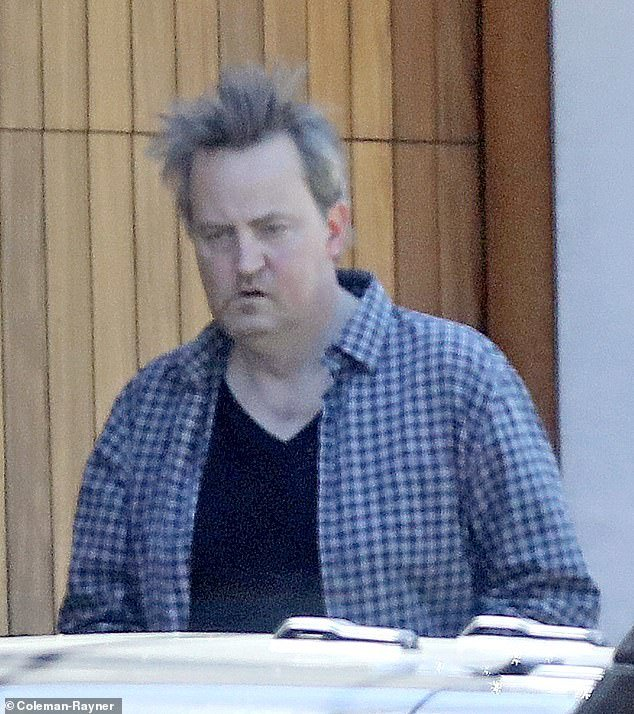 Matthew Perry has a serious case of quarantine hair after spending pandemic