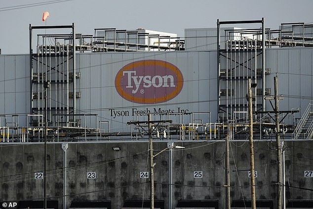 Last week, President Donald Trump invoked an executive order to keep plants open and prevent a further meat shortage. A Tyson Fresh Meats plan pictured in Emporia, Kansas