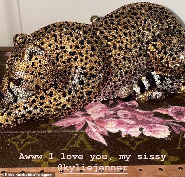 Billionaire move: Kylie Jennerdropped ,495 a piece on some crystal cheetah clutches by Judith Leiber as early Mother