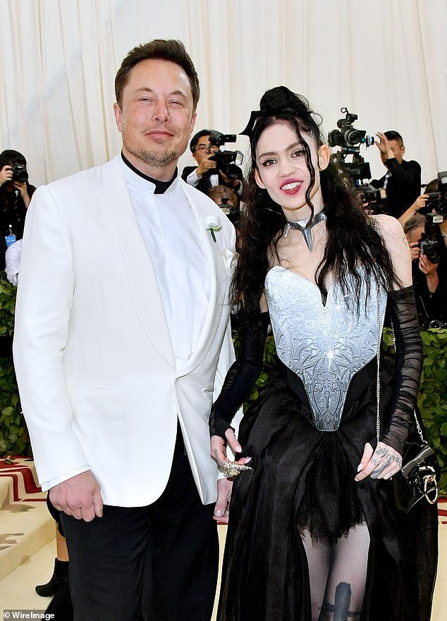 Tesla CEO Elon Musk (left) and singer Grimes (right) revealed the newborn