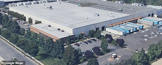 Pictured: DNY4, an Amazon distribution center inBethpage, New York, where Georgie Leigh worked before he died on April 9