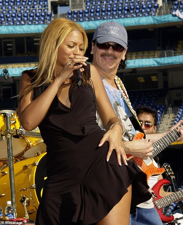 Famous brother: He is the youngest brother of icon Carlos Santana, seen here with Beyonce Knowles during Super Bowl XXXVII - PreGame Show Rehearsal at Qualcomm Stadium in San Diego in 2003