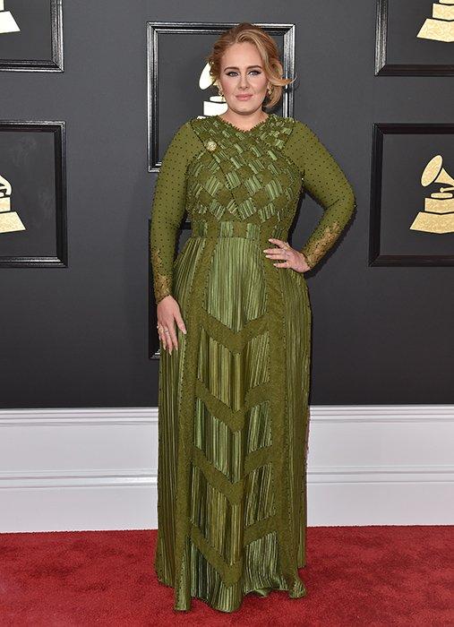 Adele breathtaking in green