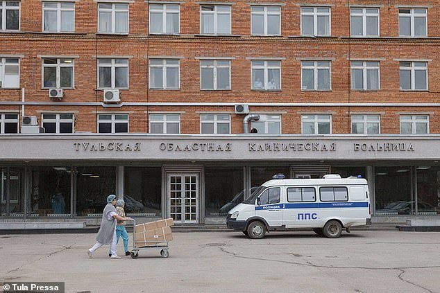 The nurse - at Tula Hospital, 100 miles south of Moscow (pictured) - said she was