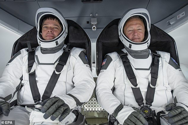 NASA astronauts Bob Behnken (left) and Doug Hurley will be blasting off in the rocket