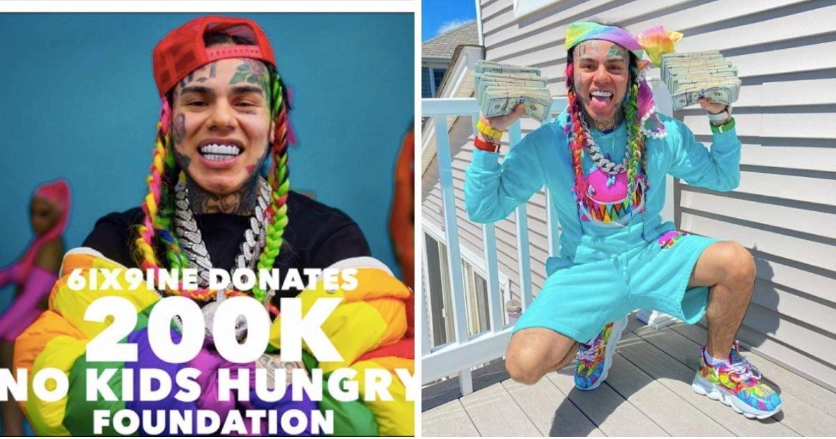 5 48.jpg?resize=1200,630 - Rapper Tekashi 6ix9ine's $200,000 Donation Rejected By Children's Charity