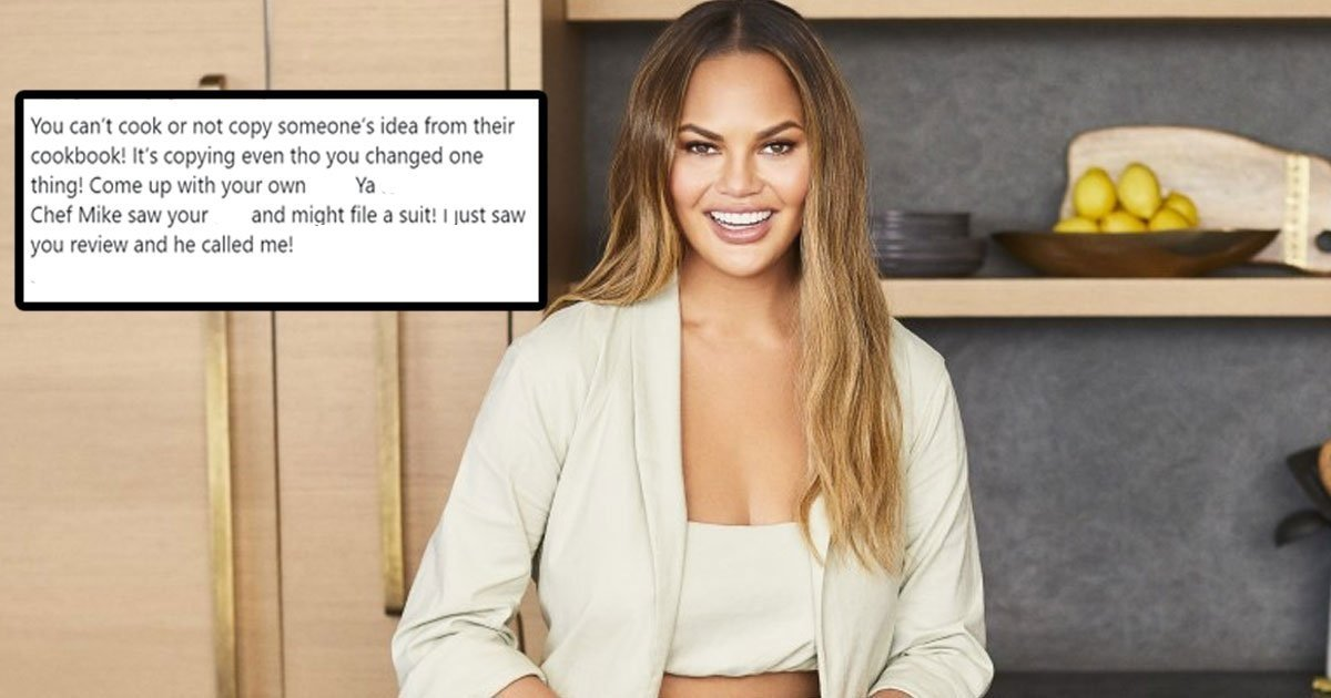 chrissy 1.jpg?resize=412,275 - Chrissy Teigen Responded To A Twitter User Who Claimed She Stole Her Cookbook Recipe From Someone Else