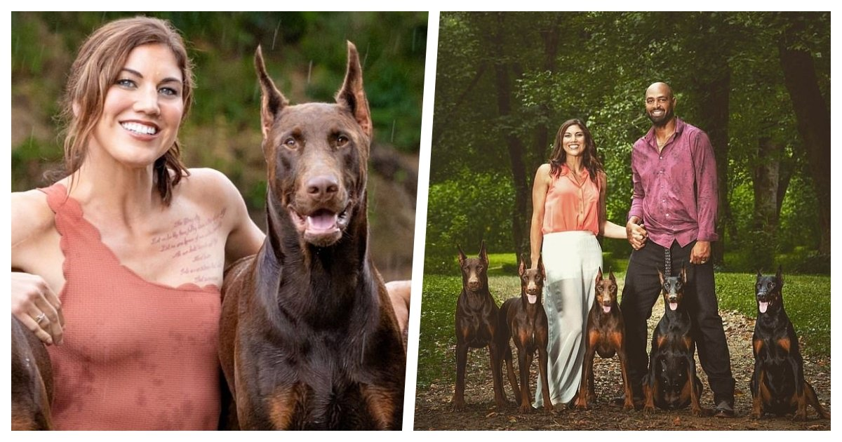 collage 39.jpg?resize=1200,630 - Olympic Gold Medalist Hope Solo Says Her Doberman Died After It Was Shot