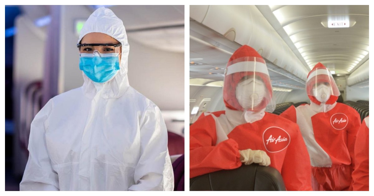 collage 46.jpg?resize=412,275 - Flight Attendants for Qatar Airways Will Wear Hazmat Suits From Now On