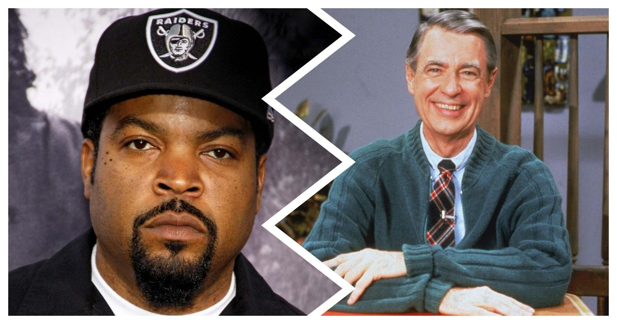 collage 53.jpg?resize=1200,630 - Rapper Ice Cube Sparks Controversy Online After Revealing Mr. Rogers Sued Him in 1990