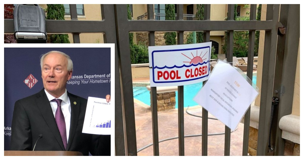 collage 63.jpg?resize=1200,630 - Arkansas Governor Believes A High School Pool Party Caused A Second Wave of Covid-19 Infections
