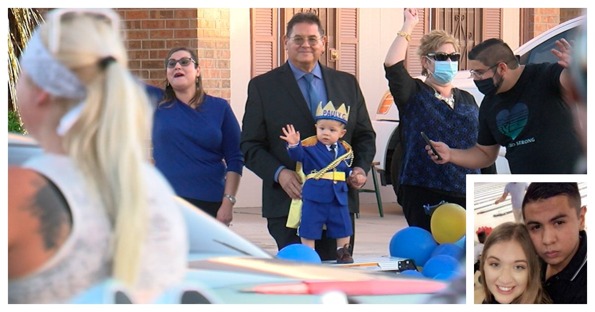 collage 64.jpg?resize=1200,630 - Hundred of El Paso Residents Join Parade to Celebrate the First Birthday of a Boy Who Lost Both Parents In a Shooting