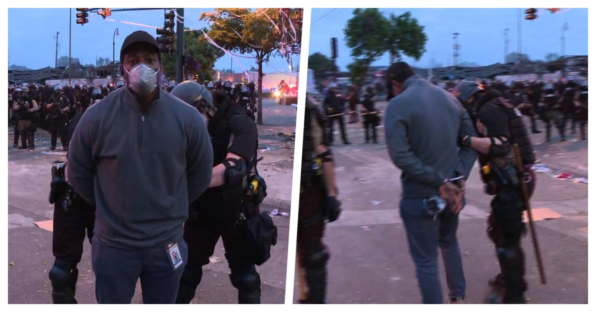 collage 77.jpg?resize=412,275 - CNN Crew Reporting On Minneapolis Protest Arrested By Police While On Live Television