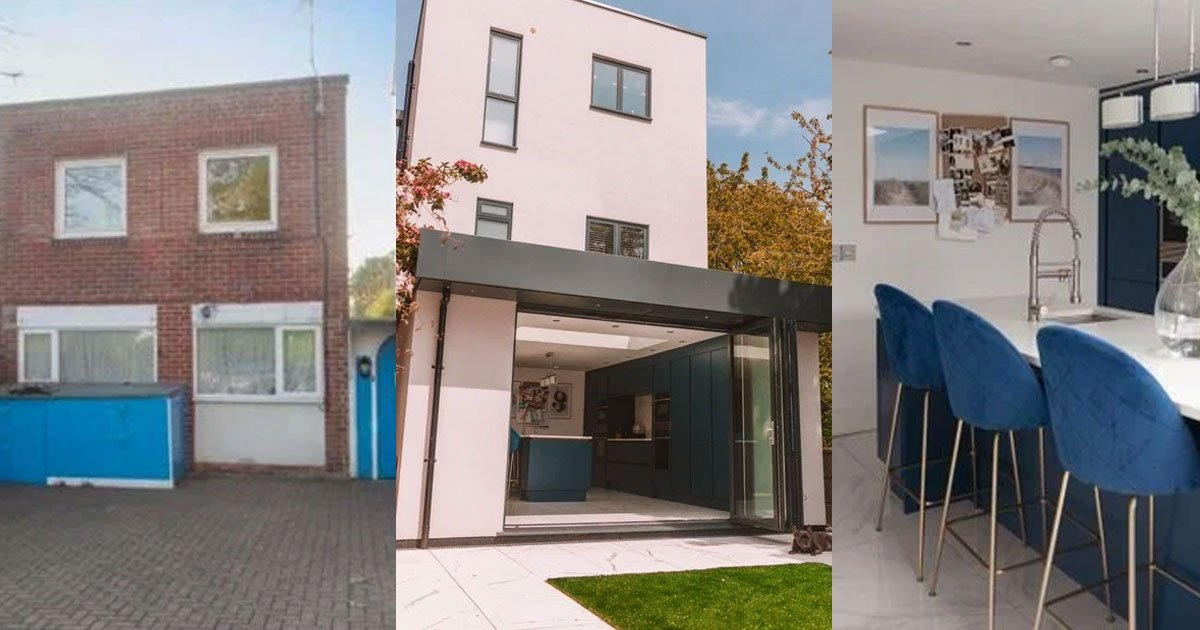 couple who owned ugliest house on the street transformed their house and someone asked whether they bought a new one.jpg?resize=1200,630 - Couple Shared How They Transformed Their 'Ugliest House On The Street' To A Beautiful Modern House