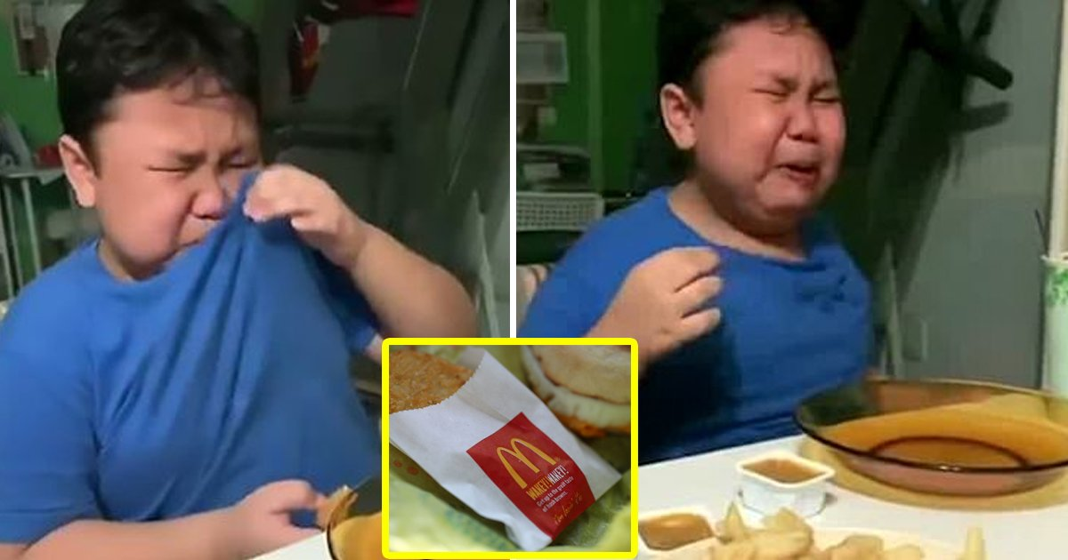 gsdgsdg 1.jpg?resize=412,232 - 9 -Year-Old Boy Weeps With Joy As He Tucks Into His First McDonald's Meal After Months Of Lockdown